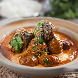 Indian Spiced Meatballs in Curry Sauce.
