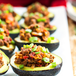 Beef Taco Stuffed Avocados