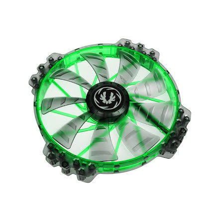 Bitfenix vifte m/grønn LED, Spectre PRO, 200x25, sort