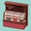 ショコラトリーのケーキケース