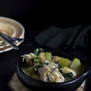 Chicken Soup With Pepper Tree Leaves.