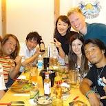 dinner at Umiya Izakaya in Shibuya in Tokyo, Tokyo, Japan