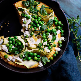 Green Polenta Pizza
