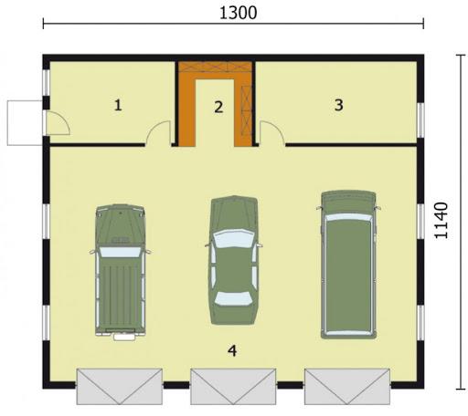 G164 - Rzut garażu