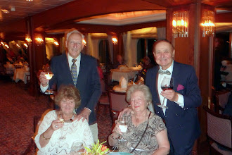 Photo: First formal dinner on board.