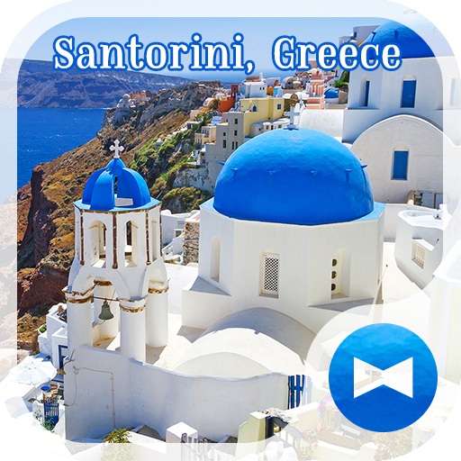 Santorini, Greece +HOME Theme Icon