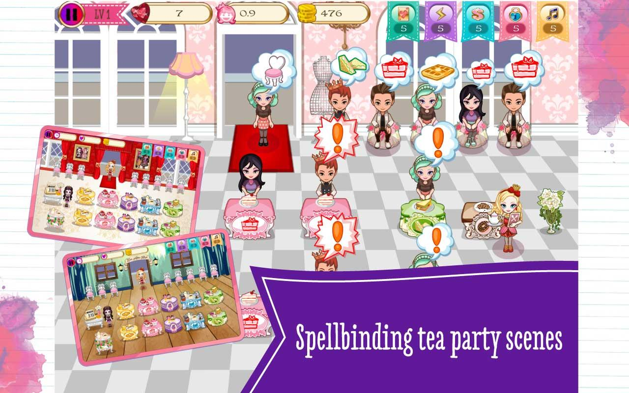 Ever after high coloring games online - Ever After High Tea Party Dash Screenshot
