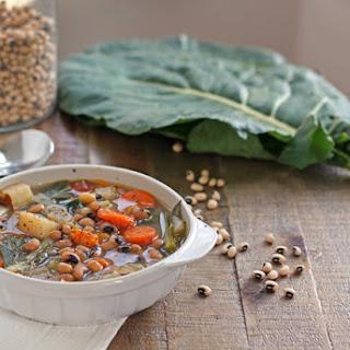 Black-Eyed Pea & Collard Greens Soup.