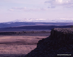 Photo: Steens Mountain in fall from Buena Vista overlook at Malheur Refuge