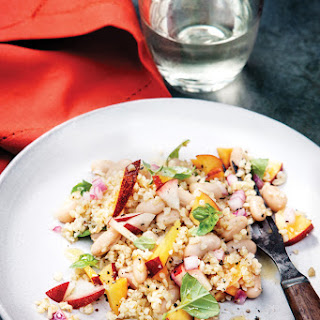 White Bean, Bulgur, and Nectarine Salad