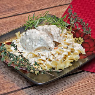Creamy Roasted Slow Cooker Chicken.