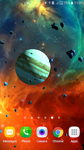 Asteroids 3D live wallpaper screenshot 6