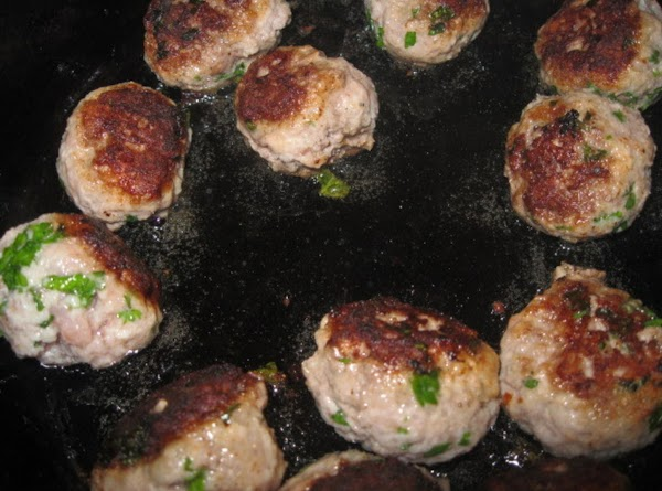 brown the meatballs