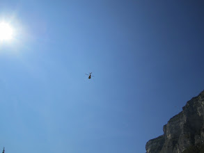 Photo: Rescue chopper heading out to retrieve a downed paraglider