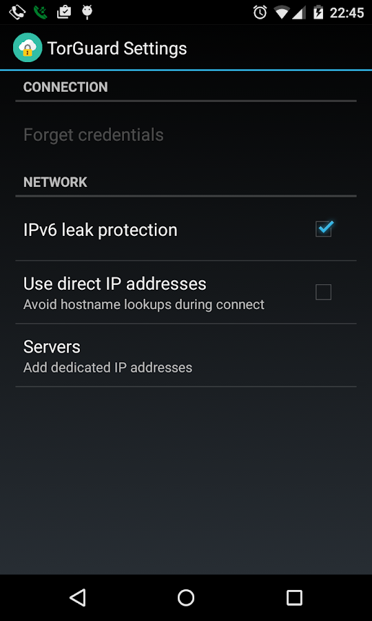 TorGuard VPN- screenshot