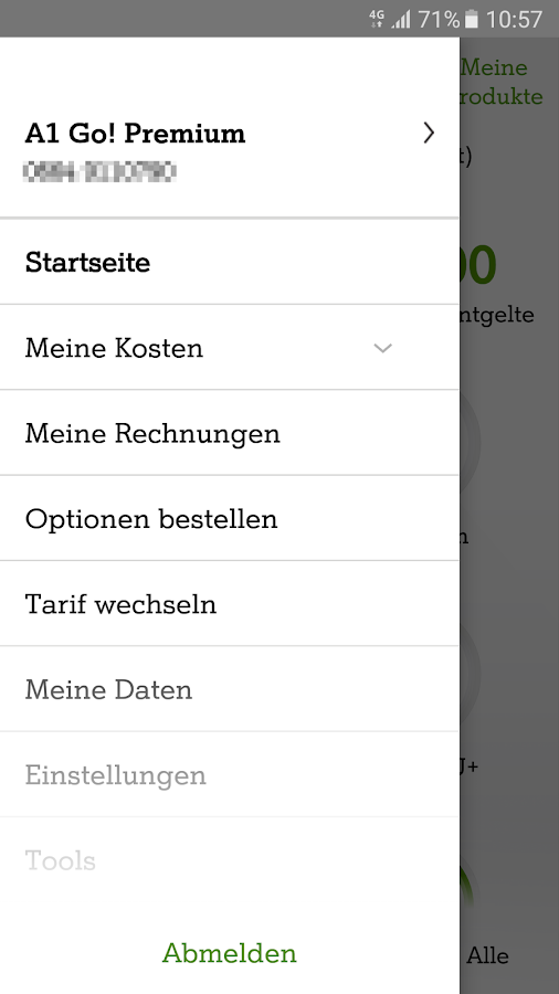 Mein A1 – Screenshot