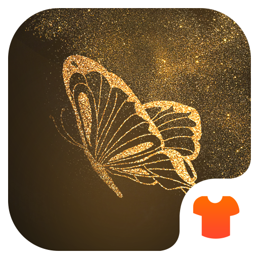 Glitter Golden - Butterfly Theme for Android Icon