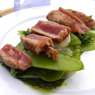 Miso Tuna With Jalapeno Dressing