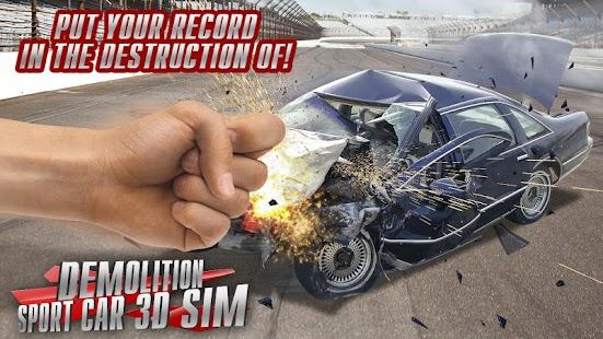 Demolition Sport Car 3D Sim - náhled