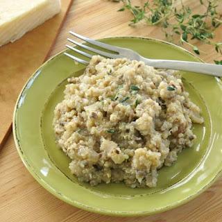Cheesy Mushroom Quinoa.