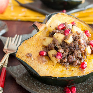 Meat Lover's Apple Stuffed Acorn Squash