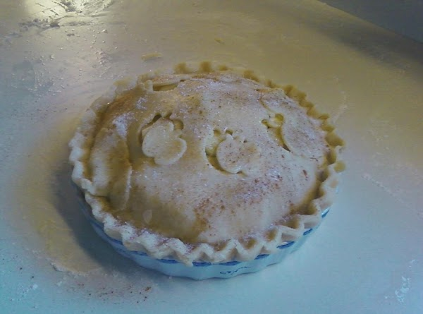 Fit the pastry into pie plate; add filling; dot with butter. Trim 1/2 to...