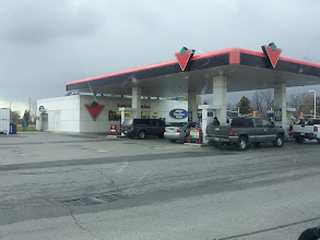 Photo: Looks pretty busy today!  Gotta check out those signs about the 10cents savings!