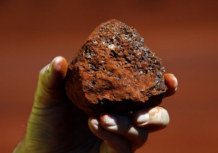 A clump of iron ore from a mine. Picture: REUTERS