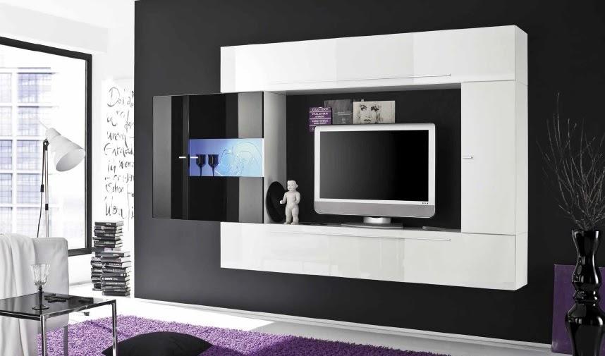 Soggiorno moderno sospeso bali co11 mobile bianco e nero - Mobile vetrina moderno ...