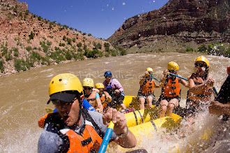 Photo: Whitewater rafting on the Green / Yampa River which flows through Dinosaur National Monument in northeastern Utah. The Yampa flows into the Green at Echo Park,