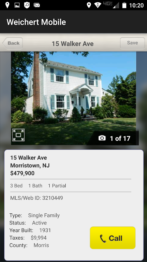 Weichert Realtors Search- screenshot