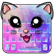Galaxy Kitty Emoji Keyboard Theme