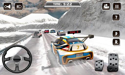 Winter Snow Car Rally Racing