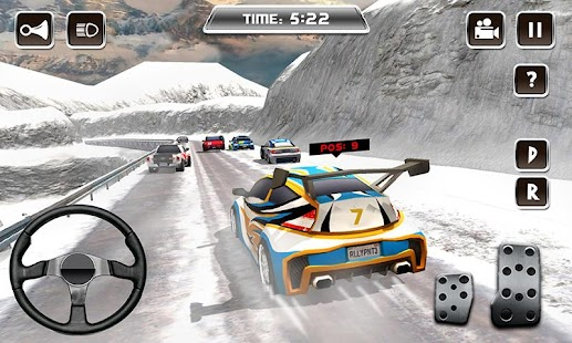 Winter Snow Car Rally Racing- screenshot thumbnail