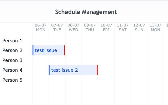 Redmine Schedule Management