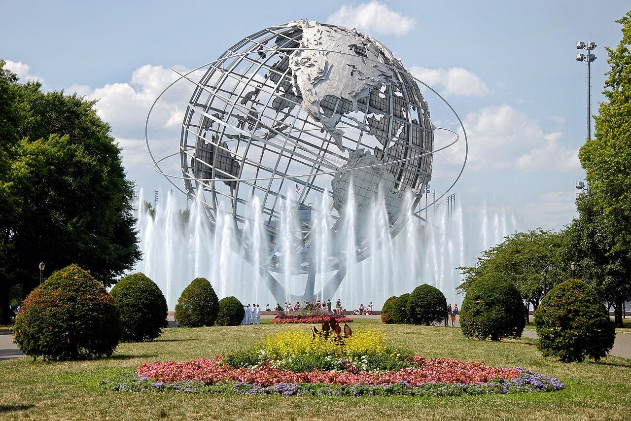 Photo: The Unisphere in Flushing Meadows - Corona Park, New York City, USA By Flapane via Wikimedia Commons (public domain) http://commons.wikimedia.org/wiki/File:Unisfera_Flushing.jpg  『ブラック・レイン』 http://inagara.octsky.net/black-rain