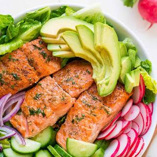 Avocado Salmon Salad Recipe (VIDEO).