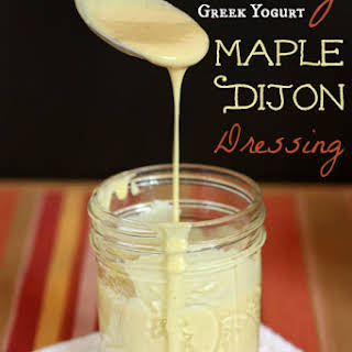 Creamy Greek Yogurt Maple Dijon Salad Dressing.