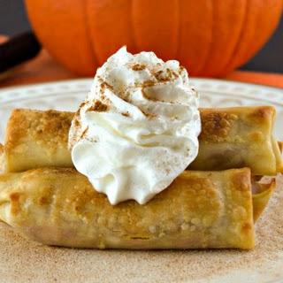 Pumpkin Oreo Cheesecake Egg Rolls