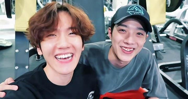 WANNA ONE Lai Kuanlin with EXO Baekhyun