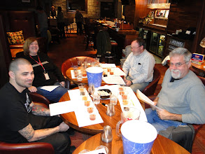 Photo: L-R: Judges Richard Miley of Chops & Hops gastropub in Watkinsville, The Beer Wench, Ted Hull and Dean Graves.
