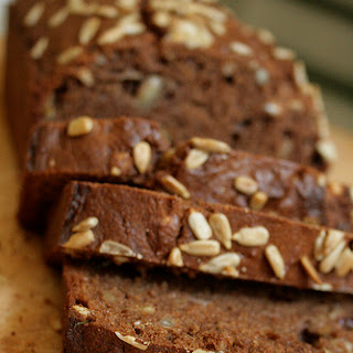 Seedy Cocoa-Cranberry Banana Bread