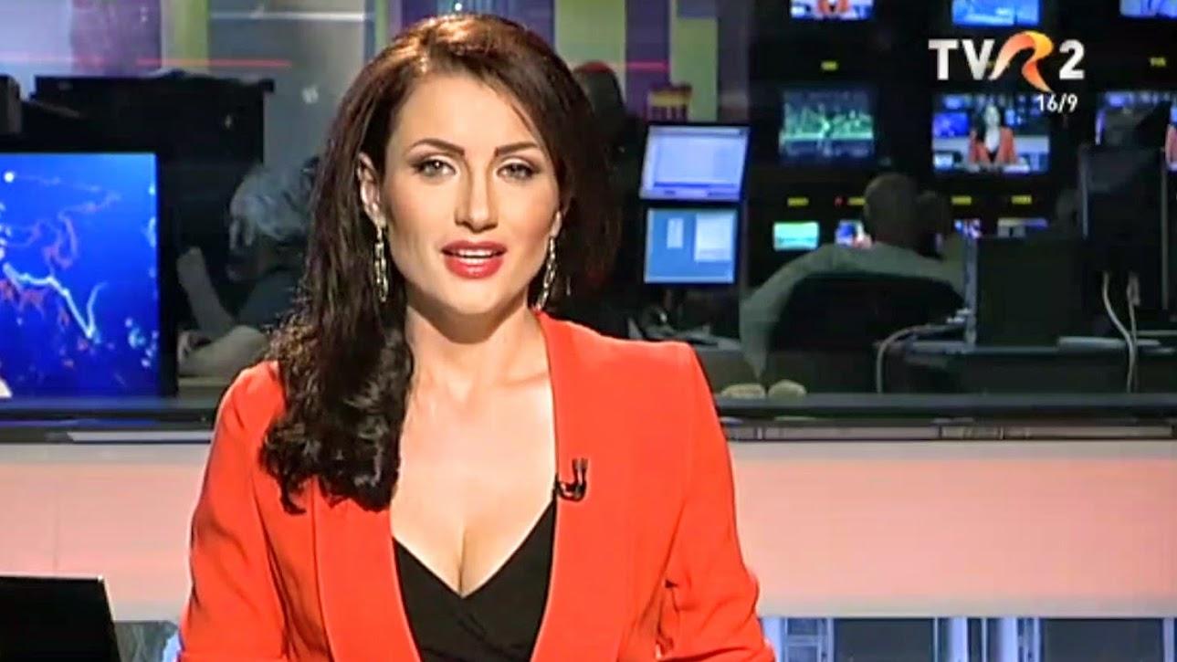 Stela Popa, o bruneta superba la Telejurnalul de pe TVR 2