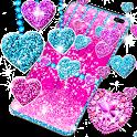 2020 Glitter hearts live wallpaper icon