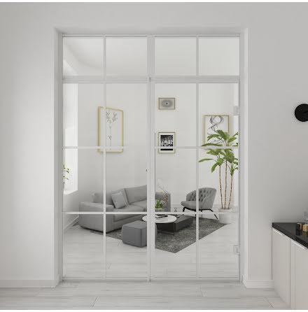 Industrivägg Dörr + Vägg Nisch + ovanliggare vit