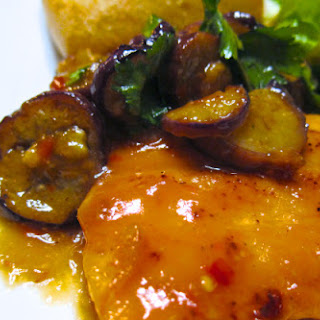 Salmon and Spicy Chinese Eggplant Recipe