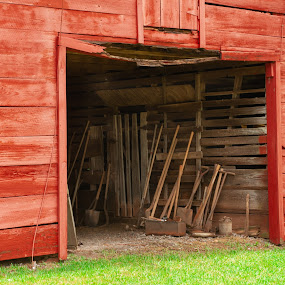 Tools Shed by Kevin Beasley - Buildings & Architecture Decaying & Abandoned ( farmhouse, barn, farm, abandoned, tools,  )