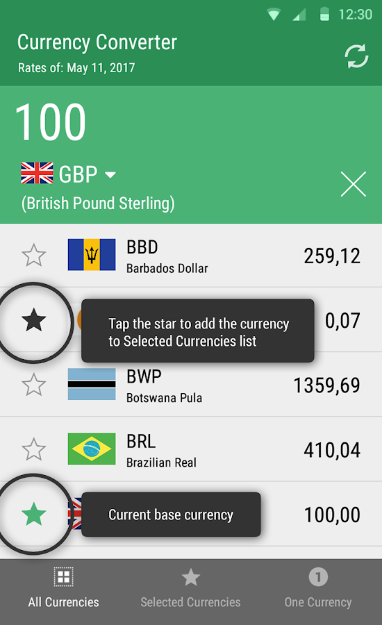 Fast Currency Converter- screenshot