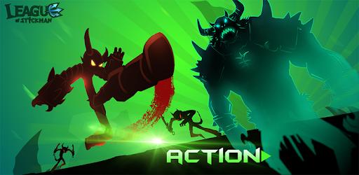 League of Stickman 2018- Ninja Arena PVP(Dreamsky) Games voor Android screenshot