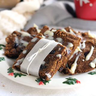 Cranberry White Chocolate Gingerbread Cookie Bars